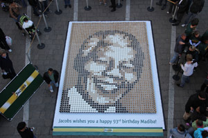 Madiba portrait in coffee