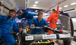 Nestlé carries out experiments in zero gravity with the European Space Agency