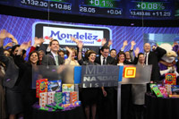 Mondelez International celebrates its launch as the pre-eminent player in global snacking