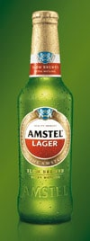 Amstel Lager's new packaging enhances its iconic appeal