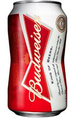 Budweiser bow-tie can