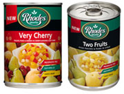 Rhodes canned fruit