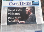 Feed kids on organs, not pap, says Prof Tim Noakes