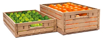 New wood-effect plastic crate set to transform fresh produce aisles