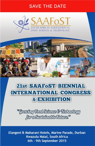 SAAFoST Congress 2015: Save the date!