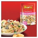 New range of value Royco Pasta Base sauces