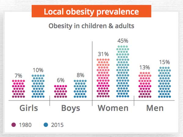 Obesity in SA graph