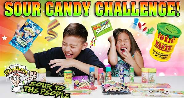Toxic, sour, atomic. Why we love to hate gross candy