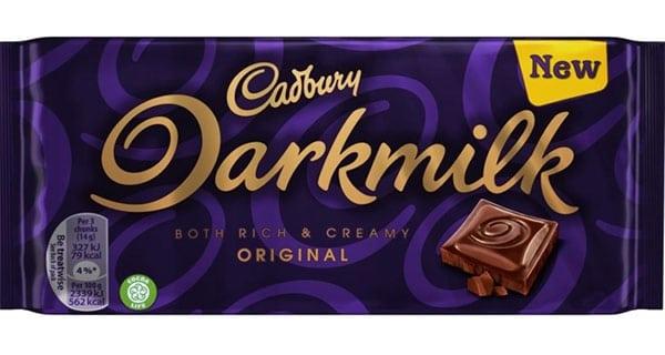 UK: Introducing Cadbury Darkmilk chocolate bars