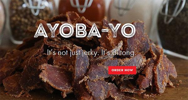 Ayoba-Yo! Selling biltong to Americans