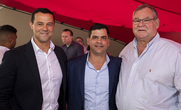 Spencer Sonn, MD of Woolworths Food; Tony Amaro, CEO of Amaro Food and Andries van Rensburg, CEO of Libstar.