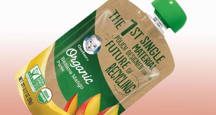 Gerber recyclable pouch