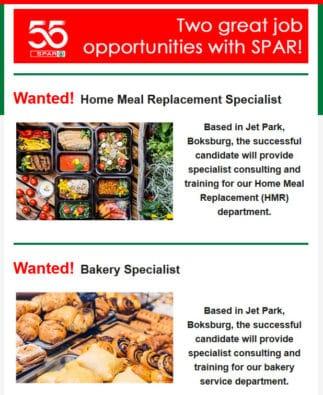 FOODStuff SA food industry recruitment mailer